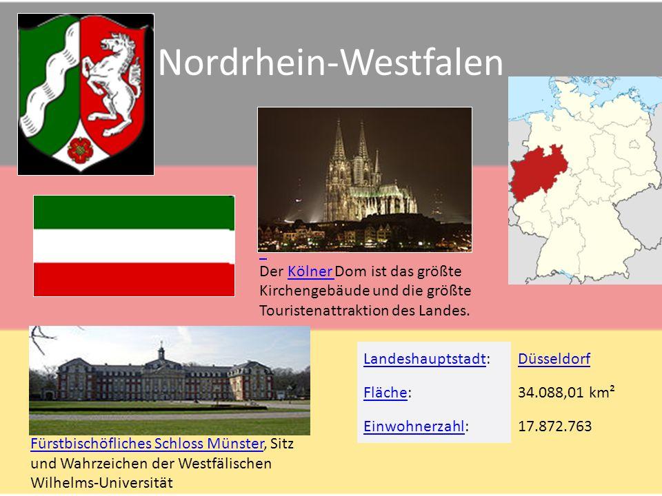 """Bayern Fläche 70.550 km² Einwohner 12,510 (Mio.) Hauptstadt - München Die Würzburger Residenz Münchner Weißwürste mit """"Brezn (Brezel) und süßem Senf Bamberger Dom St."""