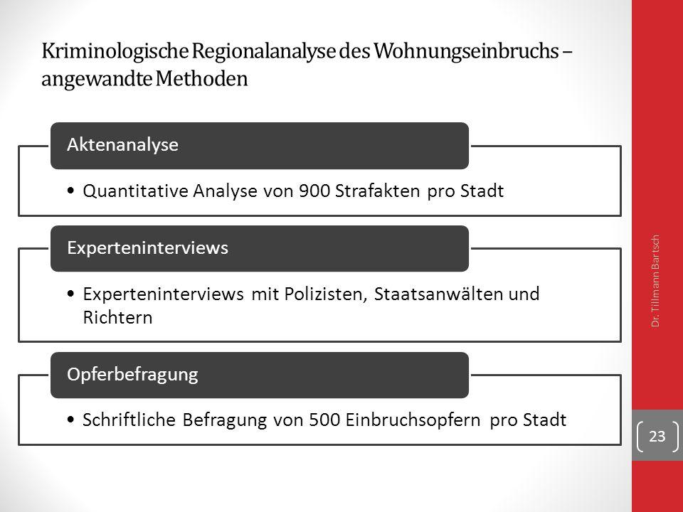 Kriminologische Regionalanalyse des Wohnungseinbruchs – angewandte Methoden Dr.
