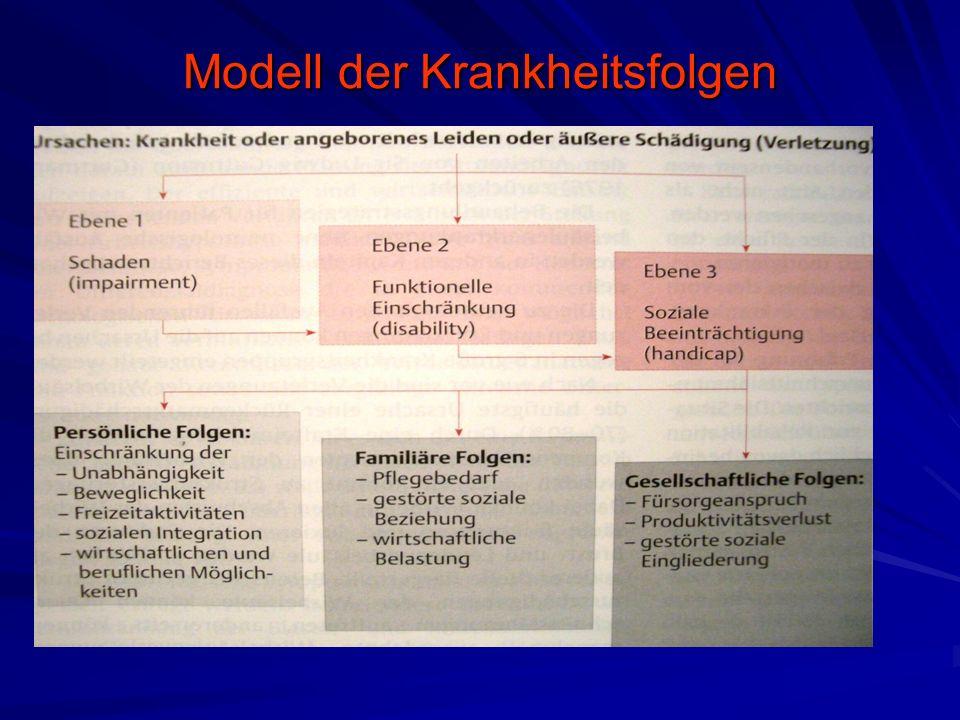 Modell der Krankheitsfolgen