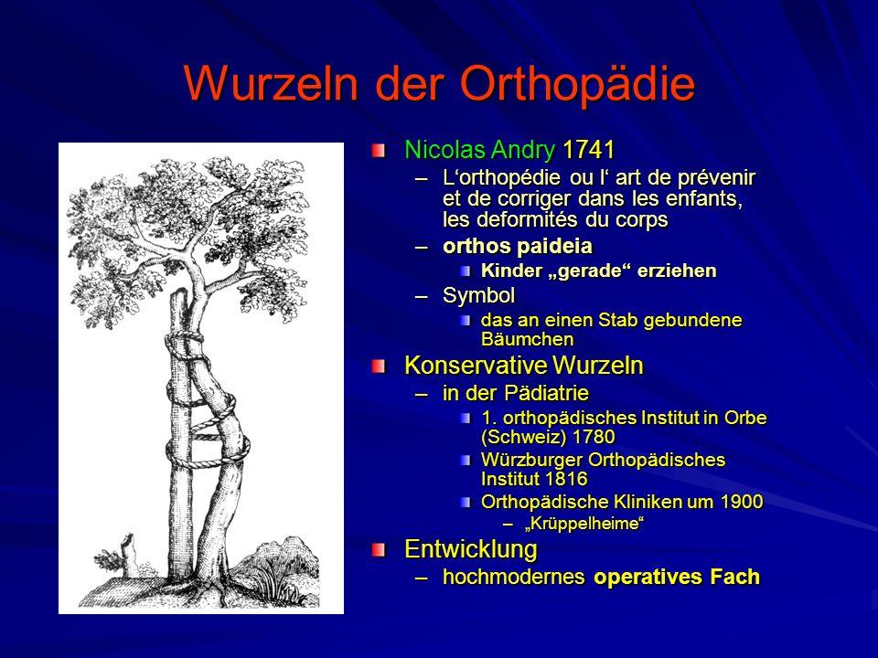 Wurzeln der Orthopädie Nicolas Andry 1741 –L'orthopédie ou l' art de prévenir et de corriger dans les enfants, les deformités du corps –orthos paideia