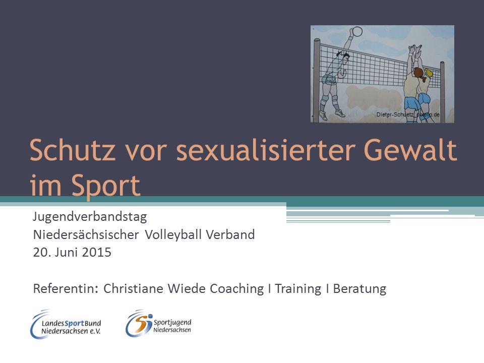 Schutz vor sexualisierter Gewalt im Sport Jugendverbandstag Niedersächsischer Volleyball Verband 20.