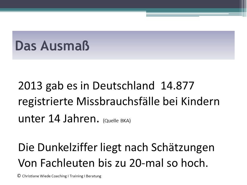 Das Ausmaß 2013 gab es in Deutschland 14.877 registrierte Missbrauchsfälle bei Kindern unter 14 Jahren.
