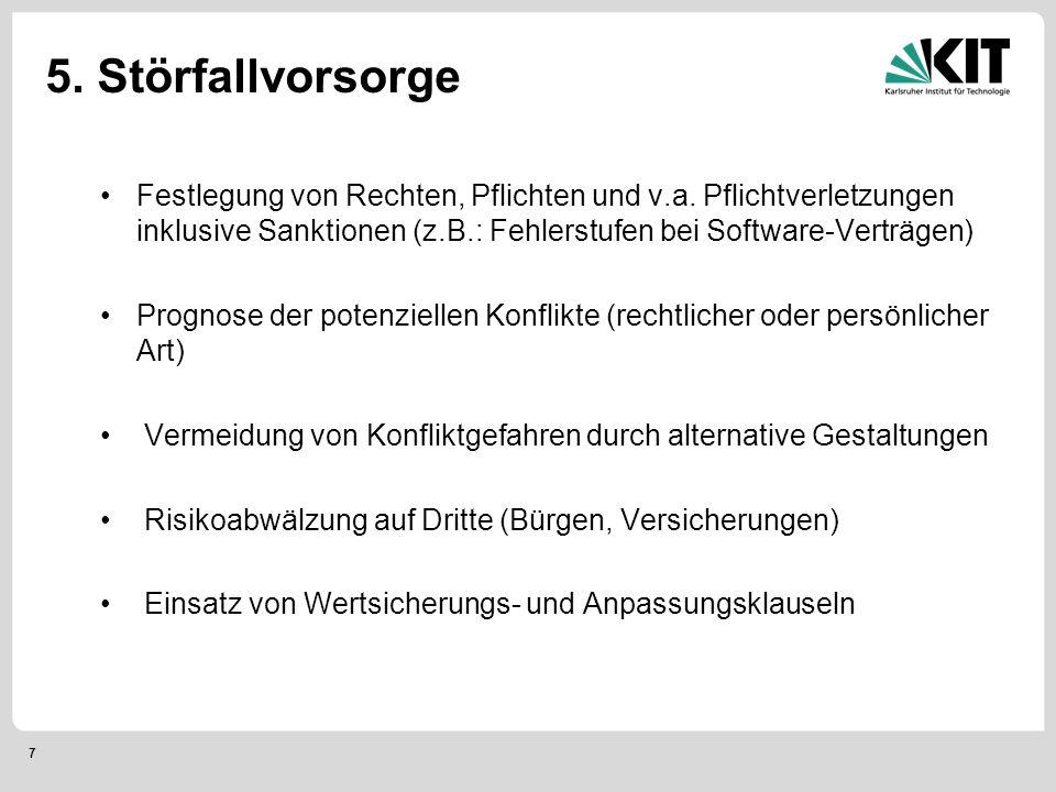 7 5. Störfallvorsorge Festlegung von Rechten, Pflichten und v.a.