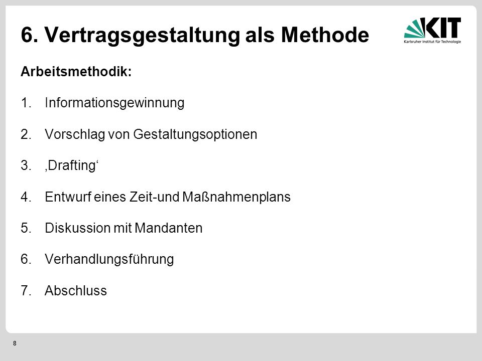 9 6.Phase 1: Informationsgewinnung 1.
