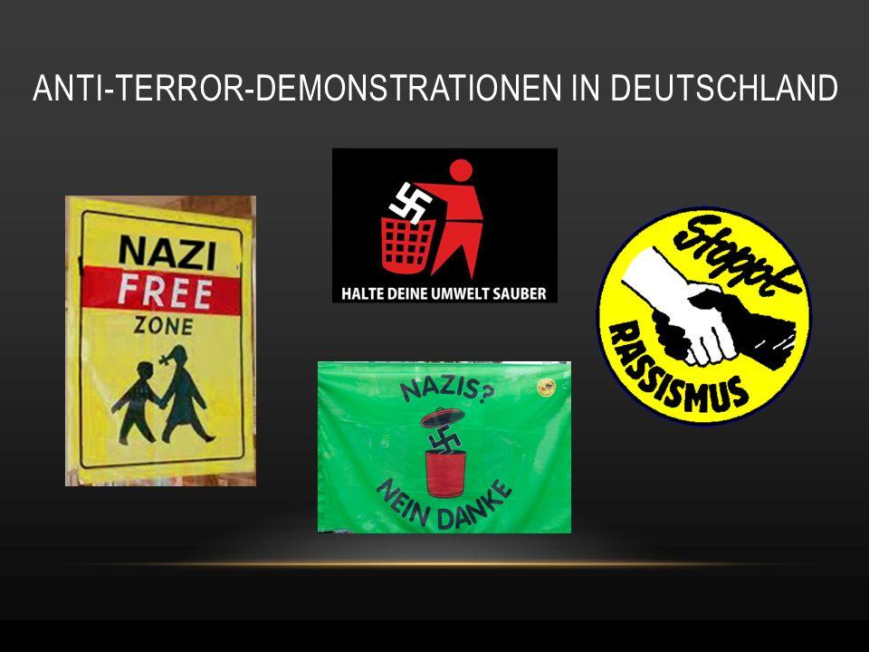 ANTI-TERROR-DEMONSTRATIONEN IN DEUTSCHLAND