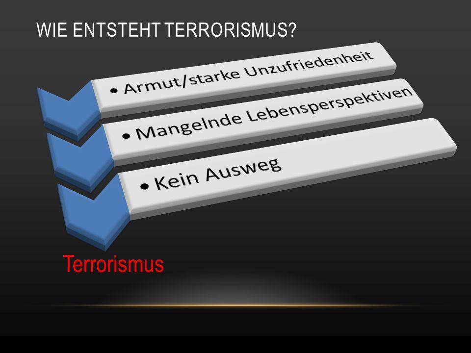 WIE ENTSTEHT TERRORISMUS? Terrorismus