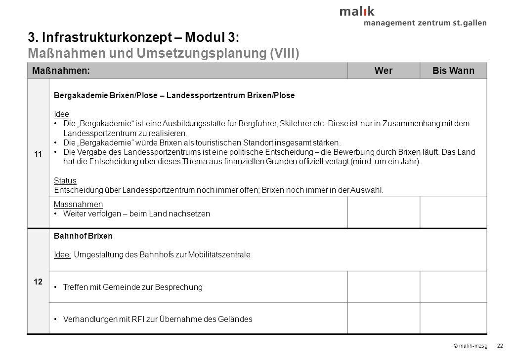 """22© malik-mzsg Maßnahmen:WerBis Wann 11 Bergakademie Brixen/Plose – Landessportzentrum Brixen/Plose Idee Die """"Bergakademie ist eine Ausbildungsstätte für Bergführer, Skilehrer etc."""