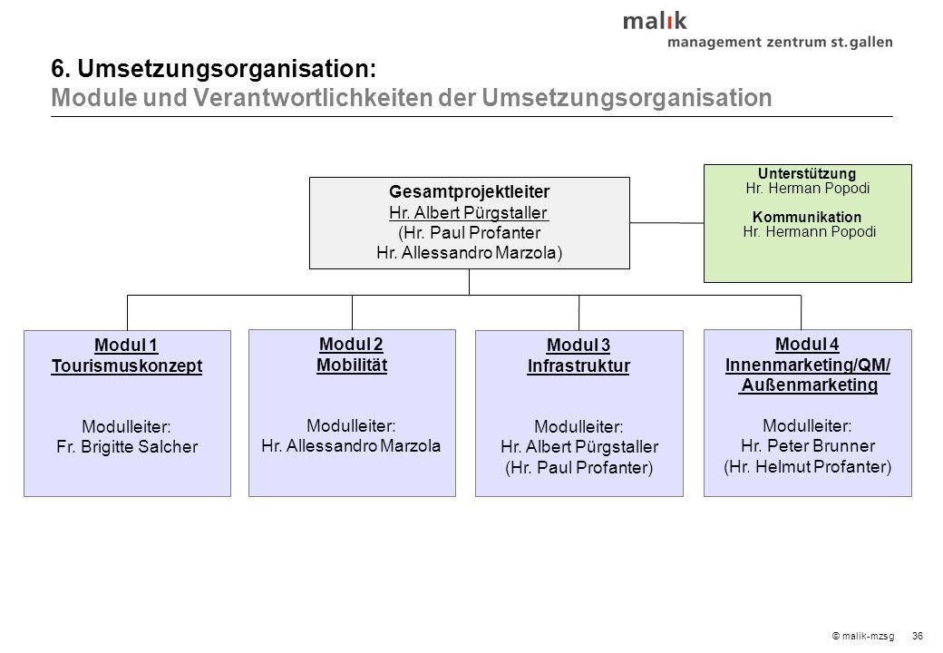 36© malik-mzsg Gesamtprojektleiter Hr. Albert Pürgstaller (Hr.