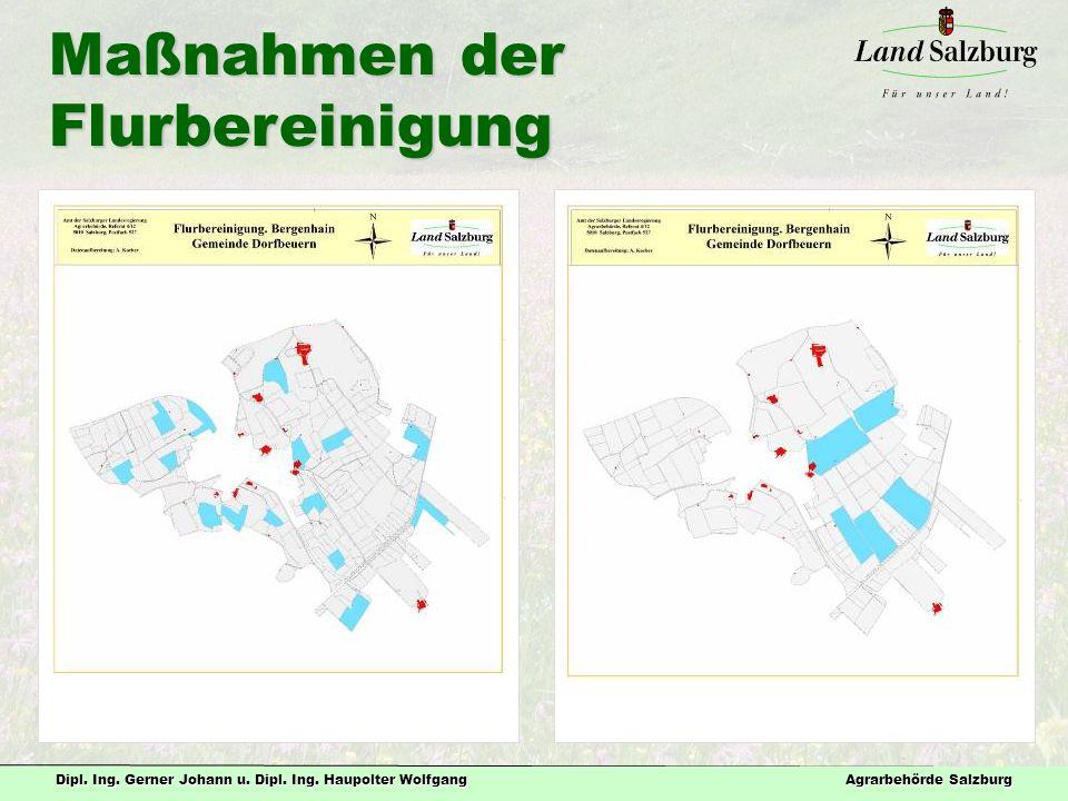Dipl. Ing. Gerner Johann u. Dipl. Ing. Haupolter Wolfgang Agrarbehörde Salzburg Maßnahmen der Flurbereinigung