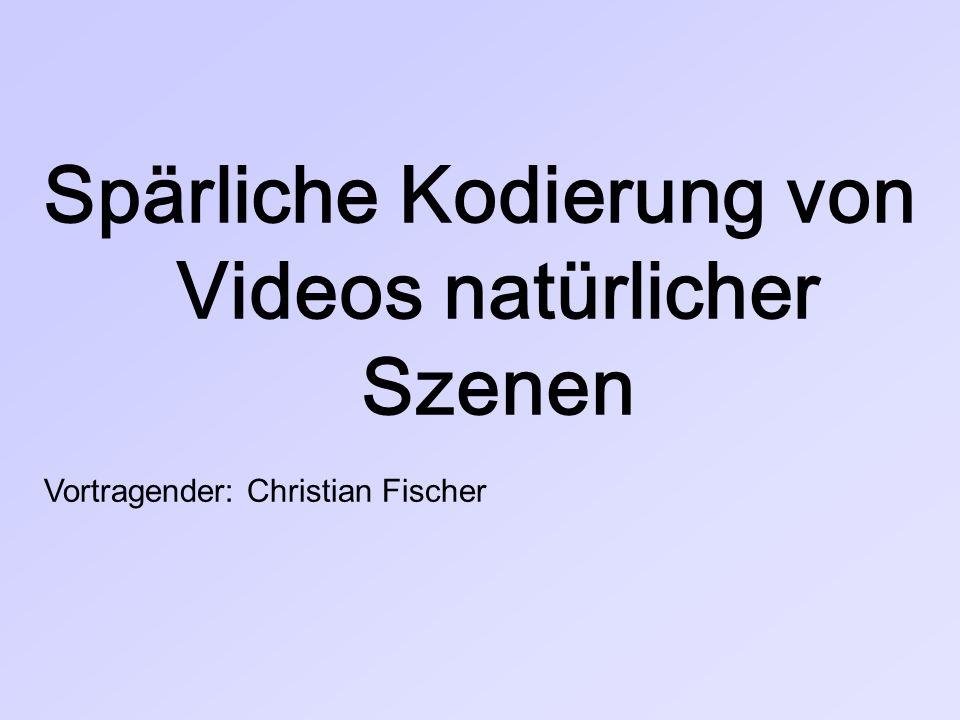 Spärliche Kodierung von Videos natürlicher Szenen Vortragender: Christian Fischer