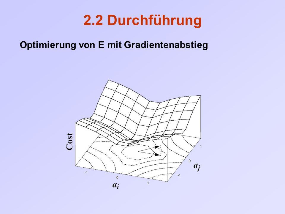 2.2 Durchführung Optimierung von E mit Gradientenabstieg