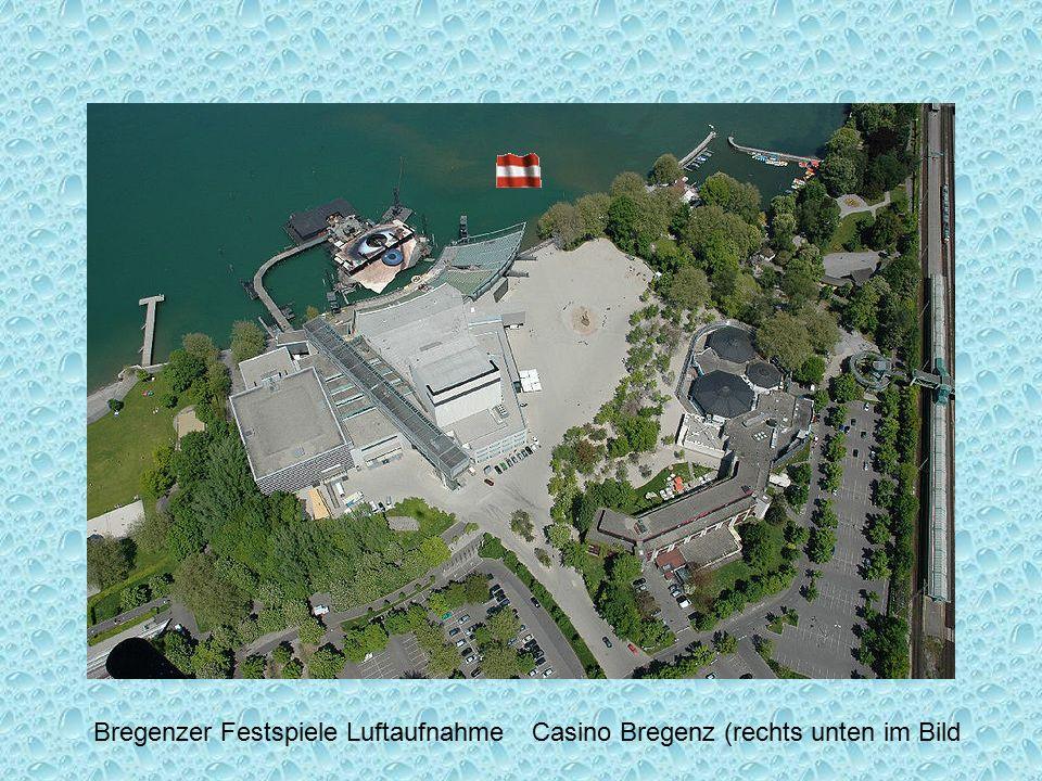 Blick vom Haggen auf die Stadt Bregenz - Österreich