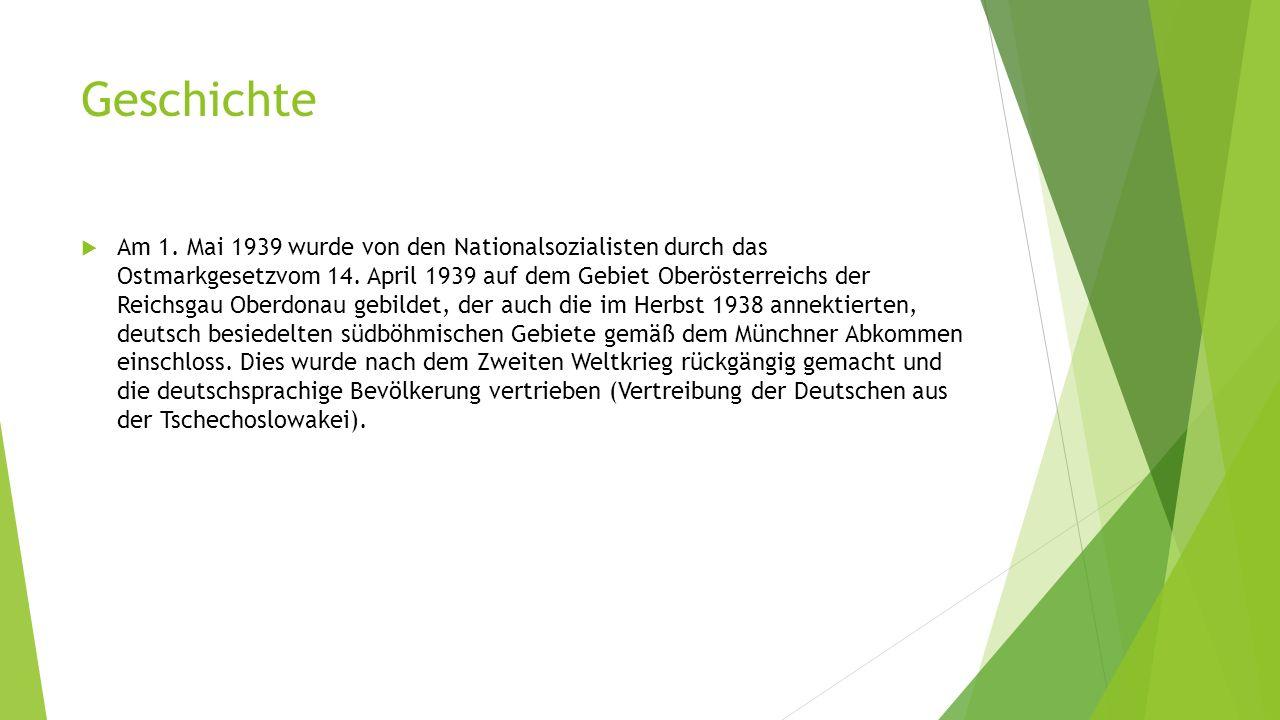 Geschichte  Am 1. Mai 1939 wurde von den Nationalsozialisten durch das Ostmarkgesetzvom 14.