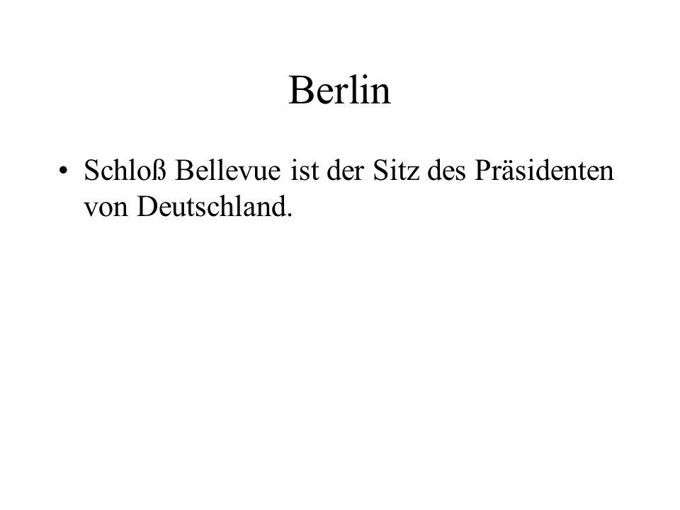 Berlin Schloß Bellevue ist der Sitz des Präsidenten von Deutschland.