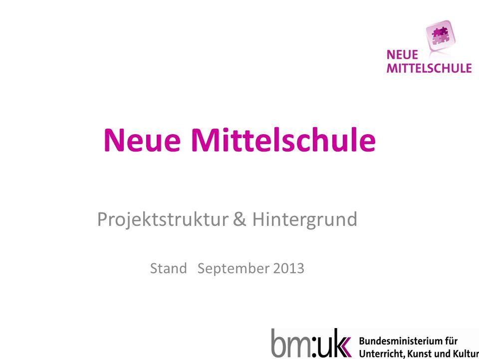 Neue Mittelschule Projektstruktur & Hintergrund Stand September 2013