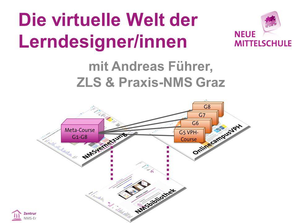 Die virtuelle Welt der Lerndesigner/innen mit Andreas Führer, ZLS & Praxis-NMS Graz