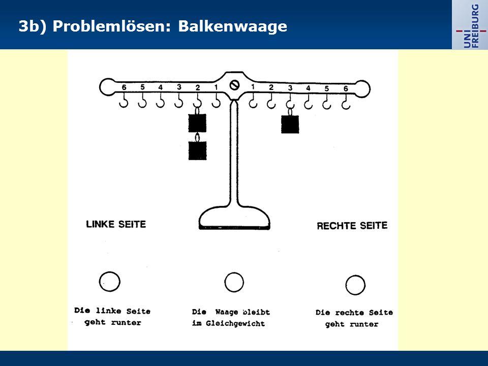 3b) Problemlösen: Balkenwaage