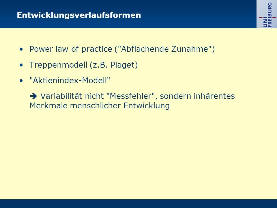 Entwicklungsverlaufsformen Power law of practice (