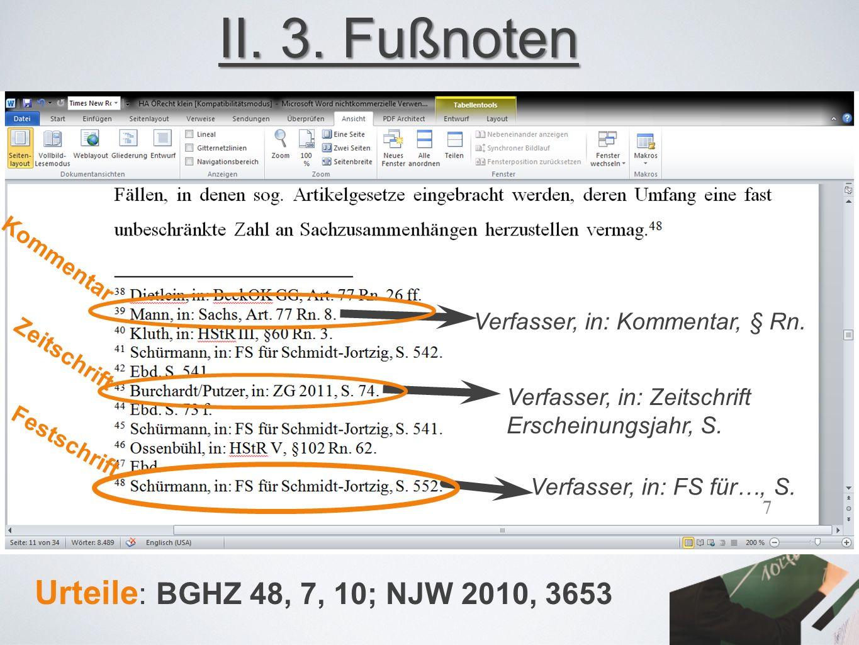 Verfasser, in: Kommentar, § Rn. Verfasser, in: Zeitschrift Erscheinungsjahr, S.