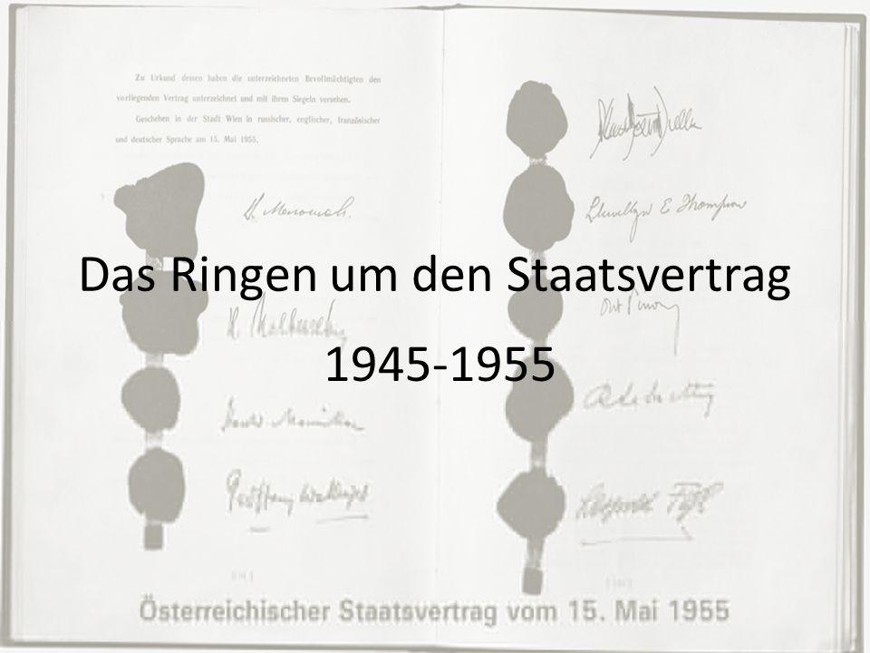 25.11.1945 erste freie Wahlen Vorbereitungen liefen ohne Einmischung der Alliierten Mächte 25.11.