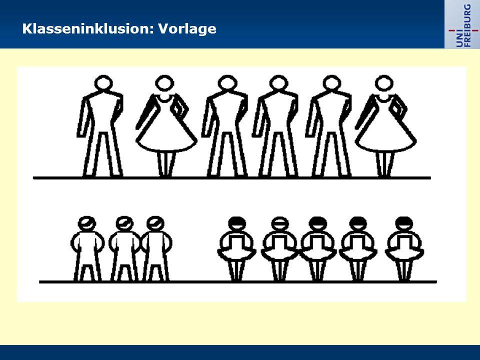 Klasseninklusion: Vorlage