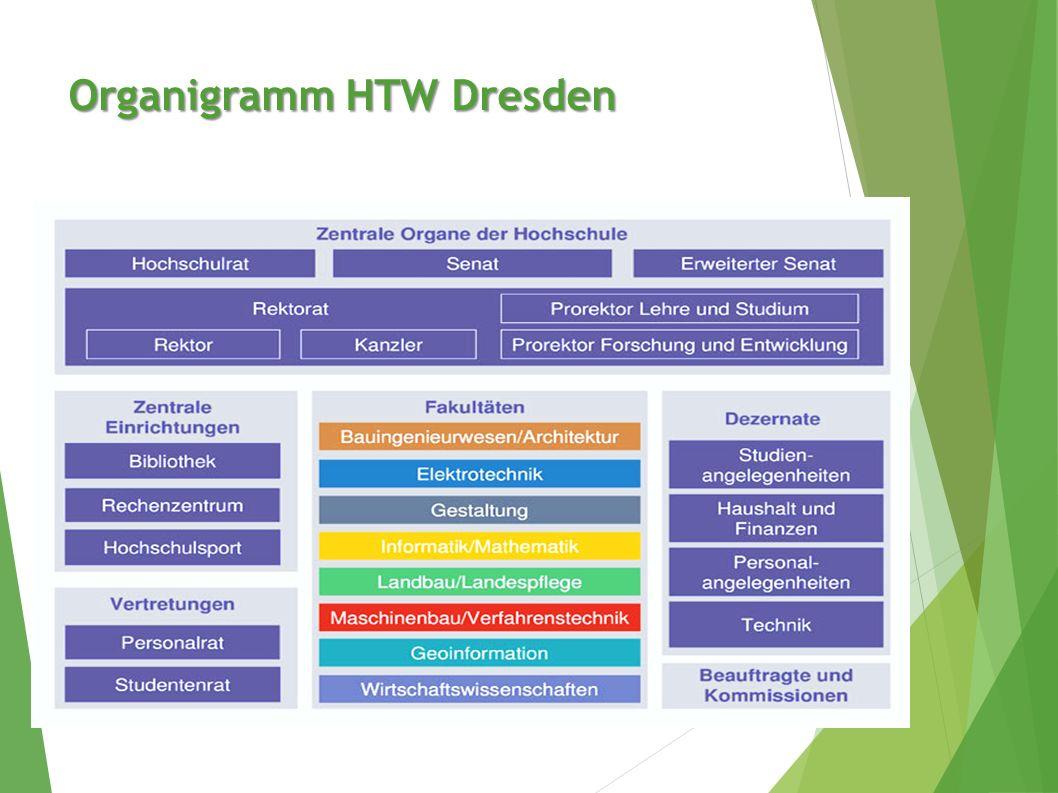 Organigramm HTW Dresden
