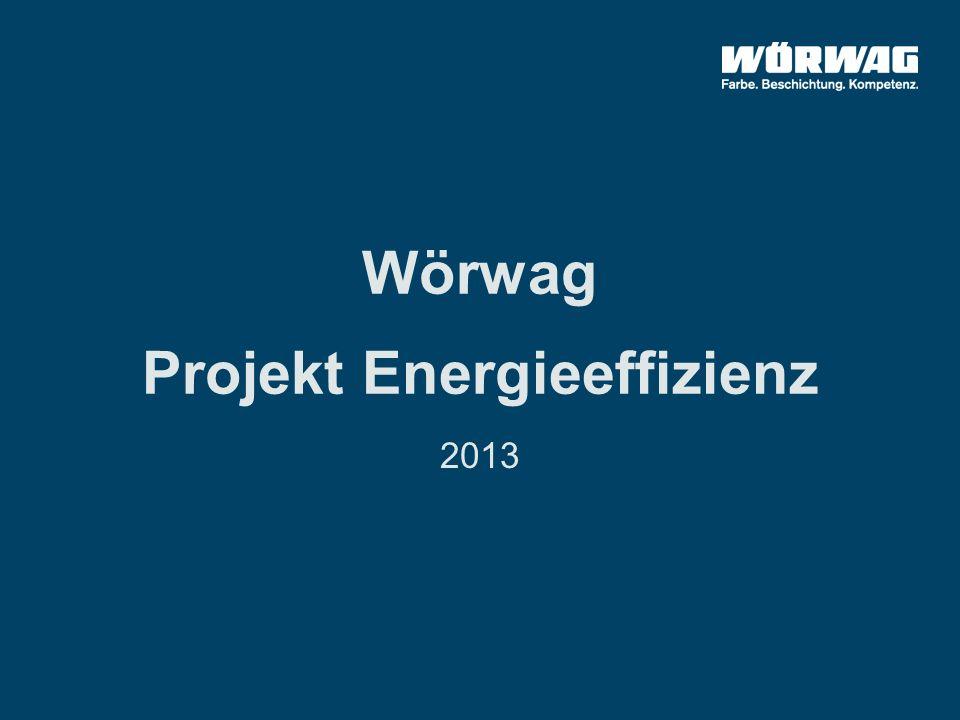 Wörwag Projekt Energieeffizienz 2013