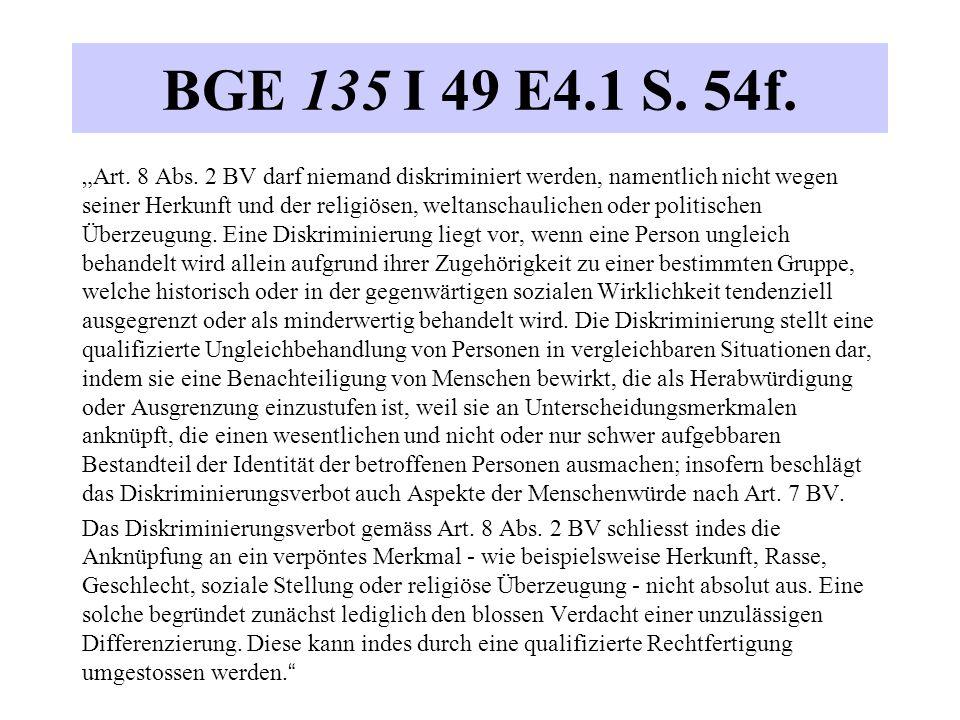"""BGE 135 I 49 E4.1 S. 54f. """"Art. 8 Abs."""