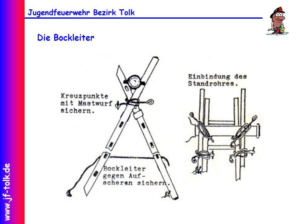 Jugendfeuerwehr Bezirk Tolk www.jf-tolk.de Die Bockleiter
