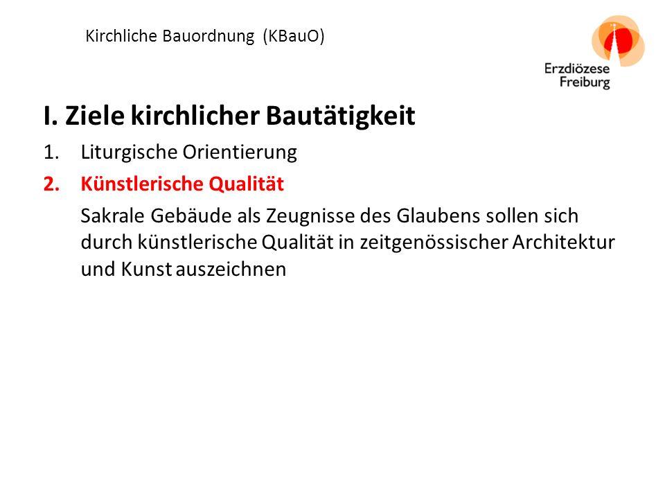 Kirchliche Bauordnung (KBauO) I.