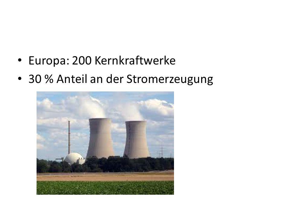 Vorteile 1 kg Uran = 44 000 kg Erdöl oder 60 000 kg Steinkohle.