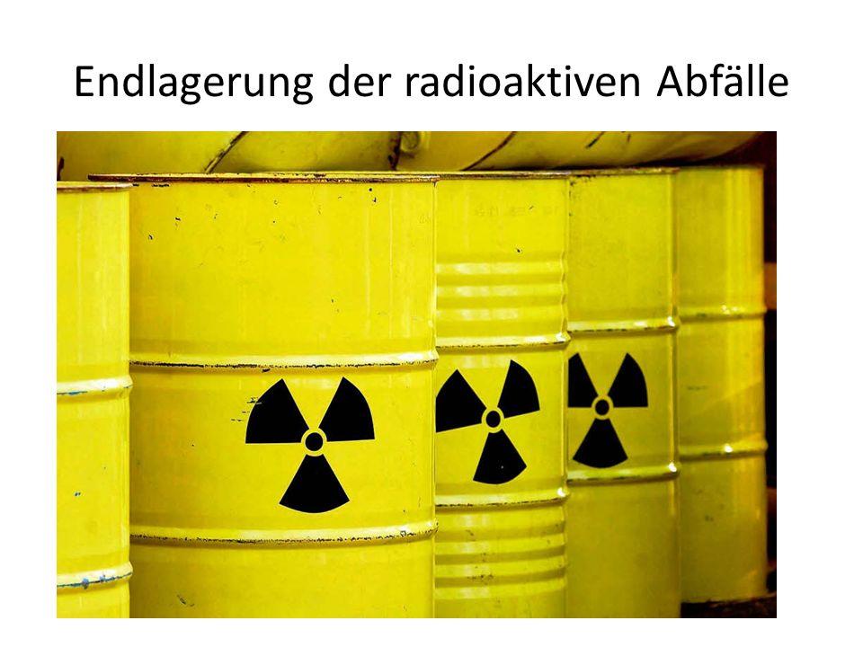 Fakten schwache radioaktive Abfälle 600 Jahre/ mittel- hochradioaktive Abfälle mehr als 100'000 Jahre Gefahr: Hautschäden, schwere Erkrankungen bis zu Schädigung des Erbgutes
