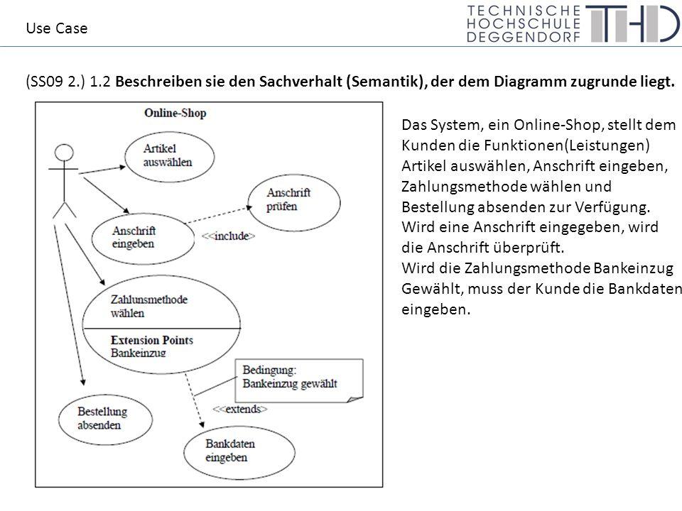(SS09 2.) 1.2 Beschreiben sie den Sachverhalt (Semantik), der dem Diagramm zugrunde liegt.