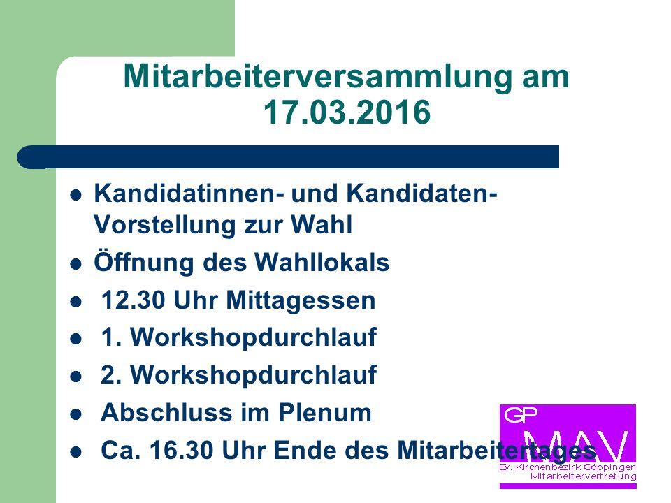 Mitarbeiterversammlung am 17.03.2016