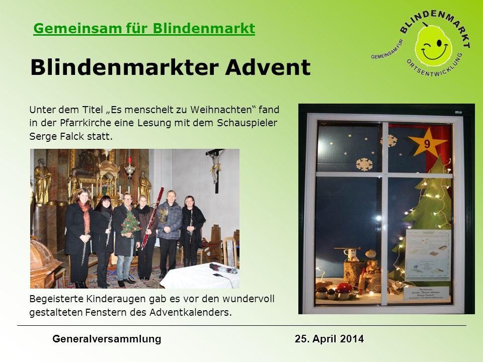 """Gemeinsam für Blindenmarkt Blindenmarkter Advent Unter dem Titel """"Es menschelt zu Weihnachten fand in der Pfarrkirche eine Lesung mit dem Schauspieler Serge Falck statt."""