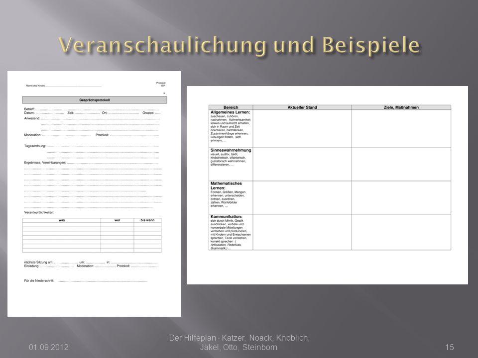 01.09.2012 Der Hilfeplan - Katzer, Noack, Knoblich, Jäkel, Otto, Steinborn15