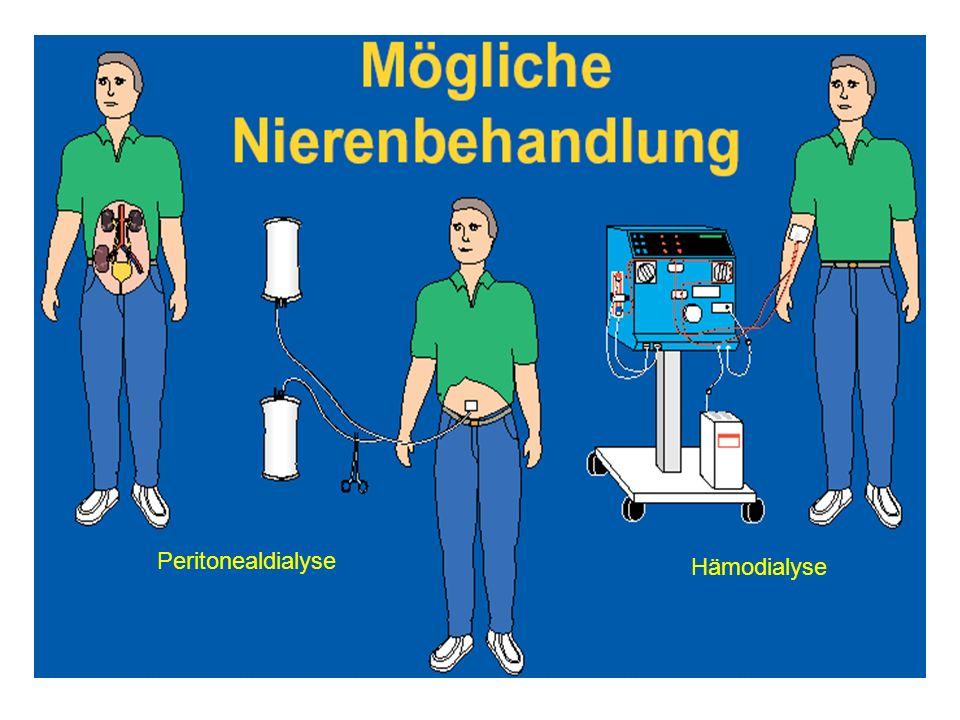 Peritonealdialyse Hämodialyse