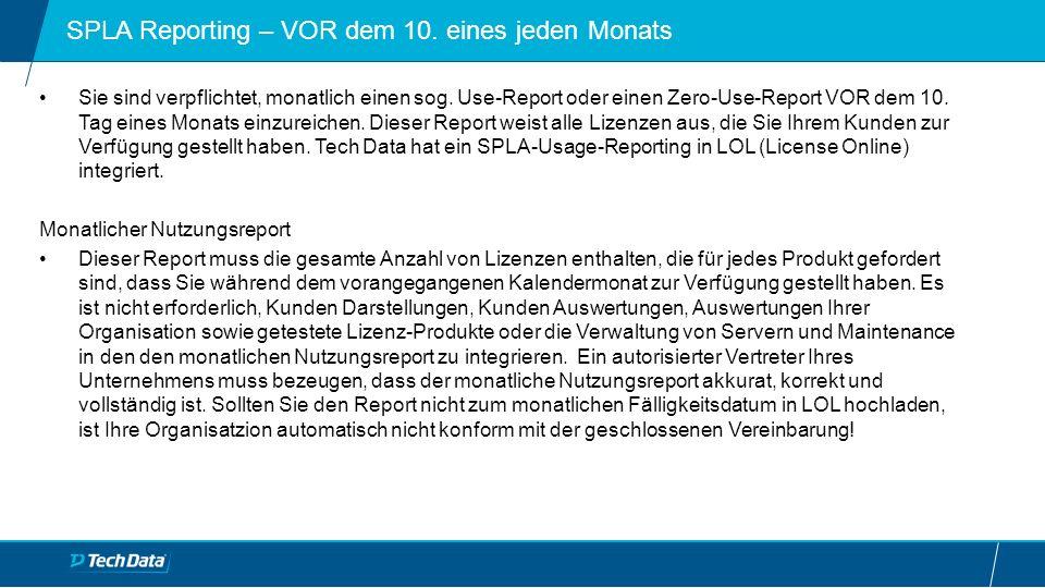 """Zero Usage Reporting im Licensing Online (LOL) Falls Ihr Unternehmen keines der Lizenzprodukte während des letzten Kalendermonats genutzt hat, um Software Dienstleistungen Ihren Kunden anzubieten, müssen Sie bitte unbedingt einen sogenannten """"Zero Usage Report in LOL hochladen bzw."""
