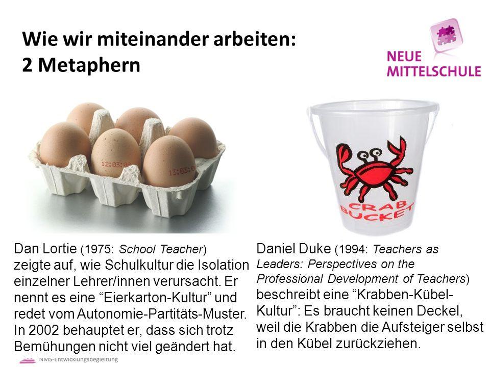 Wie wir miteinander arbeiten: 2 Metaphern Dan Lortie (1975: School Teacher) zeigte auf, wie Schulkultur die Isolation einzelner Lehrer/innen verursacht.