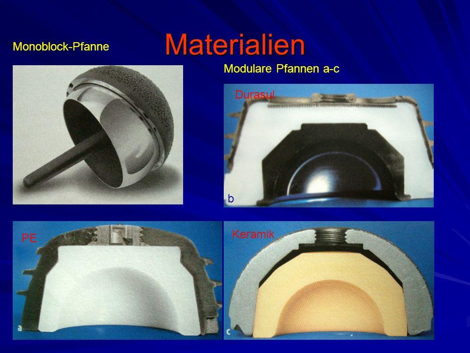 Materialien b Durasul Keramik PE Modulare Pfannen a-c Monoblock-Pfanne
