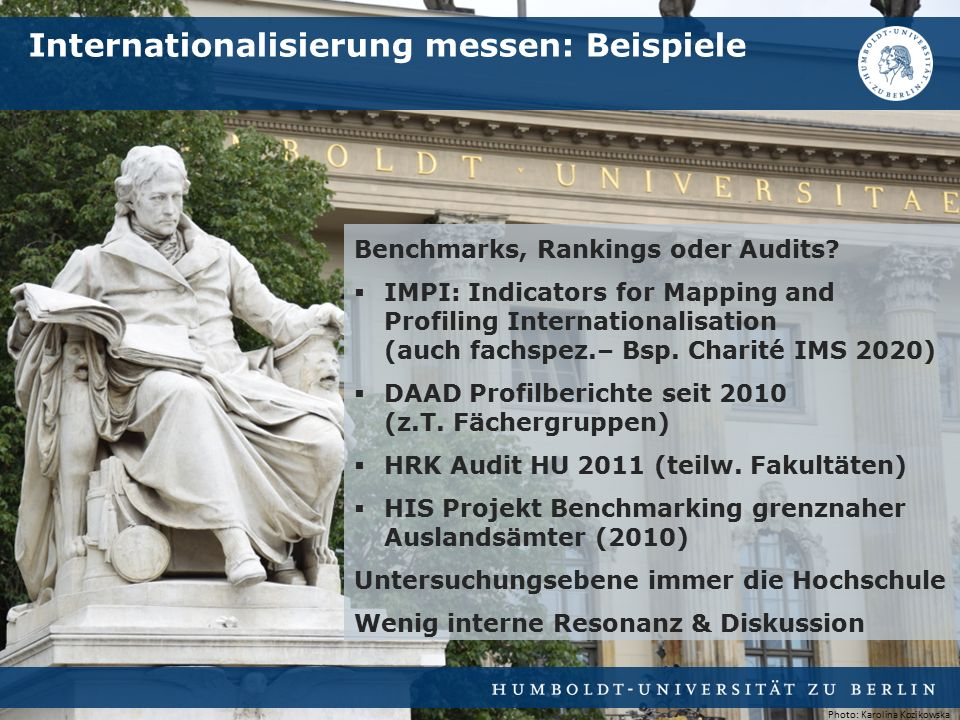 Benchmarks, Rankings oder Audits.