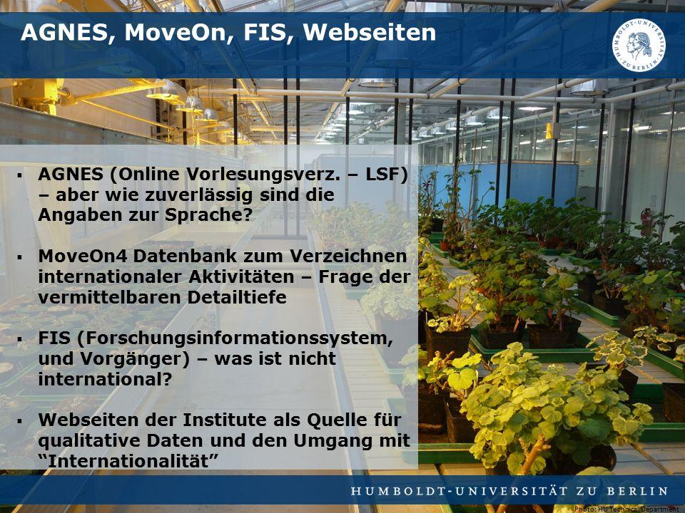  AGNES (Online Vorlesungsverz. – LSF) – aber wie zuverlässig sind die Angaben zur Sprache.