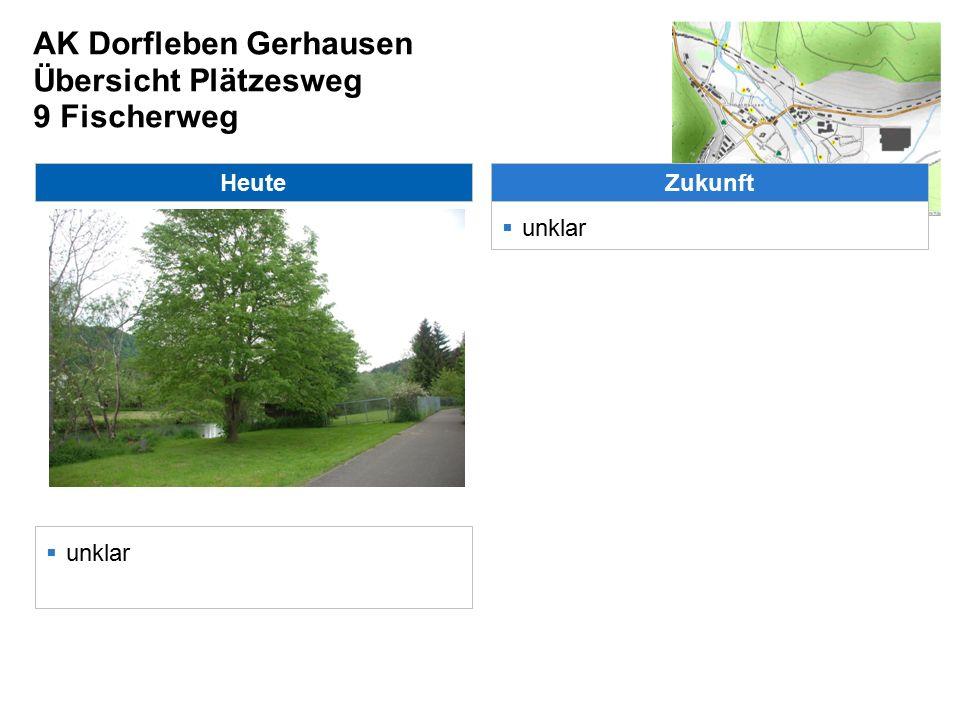 AK Dorfleben Gerhausen Übersicht Plätzesweg 9 Fischerweg Heute  unklar Zukunft  unklar
