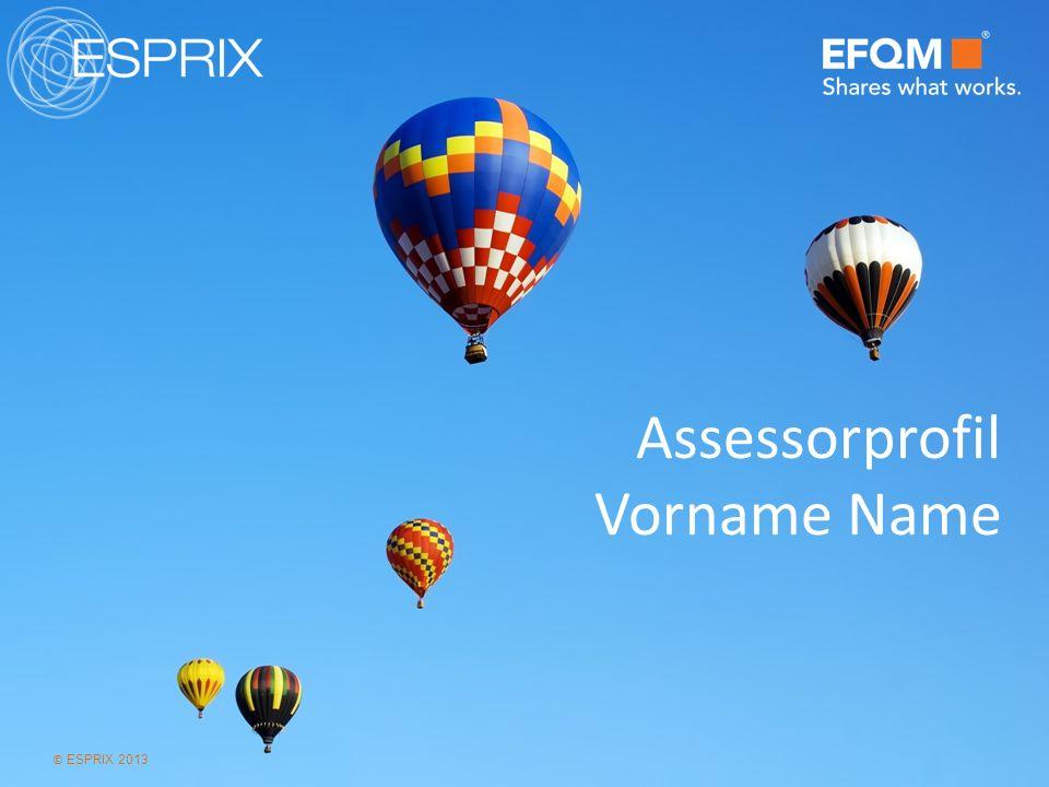 © ESPRIX 2013 Assessorprofil Vorname Name
