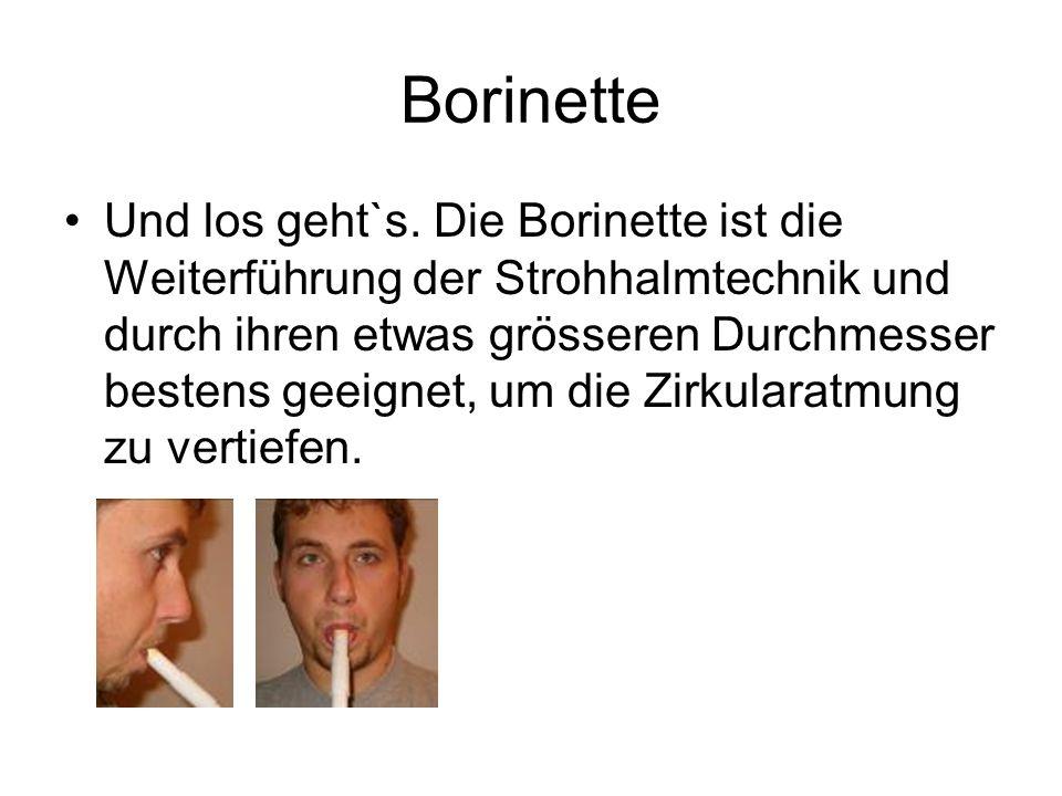 Borinette Und los geht`s.