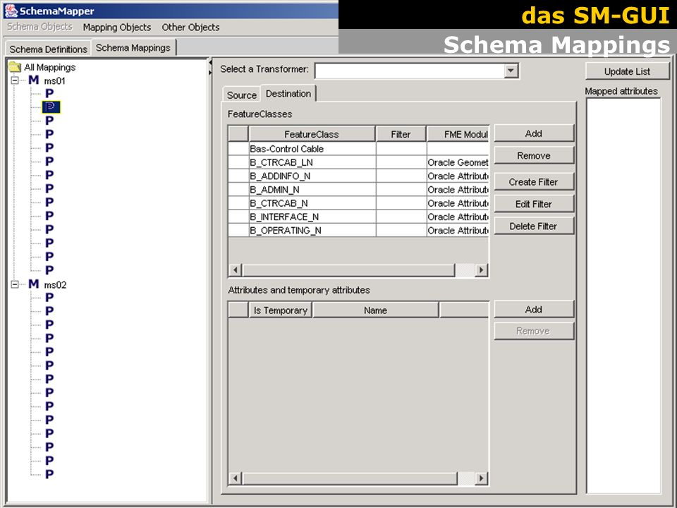 18 The GUI. Work Flow. Schema Mappings das SM-GUI