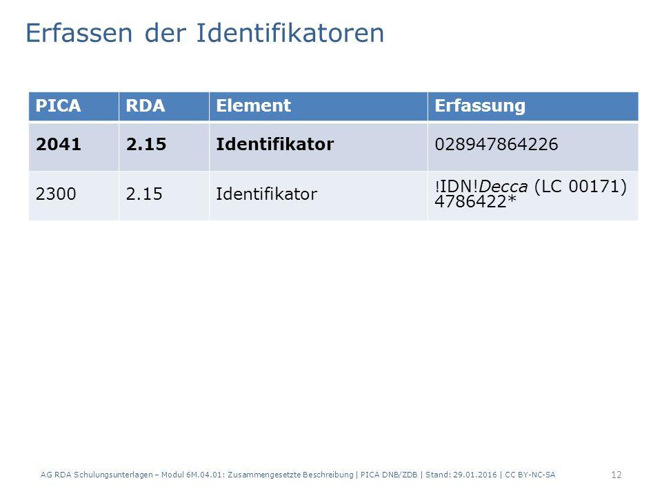 12 PICARDAElementErfassung 20412.15Identifikator028947864226 23002.15Identifikator .
