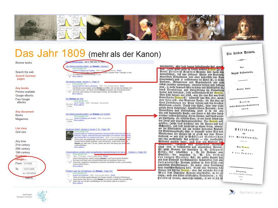 Das Jahr 1809 (mehr als der Kanon) Gerhard Lauer
