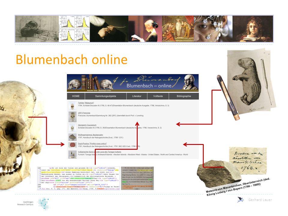 Blumenbach online Meteorit von Mauerkirchen, Oberösterreich (ded. König Ludwig I von Bayern (1786 – 1868))