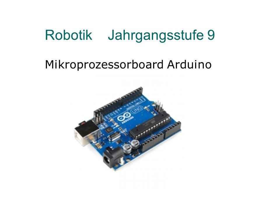 Robotik Was werden wir bauen.